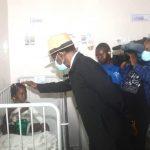 La Pareja presidencial visita a las victimas de las explosiones del 7M