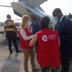 Primera ayuda humanitaria de España a las victimas de la explosion de Bata
